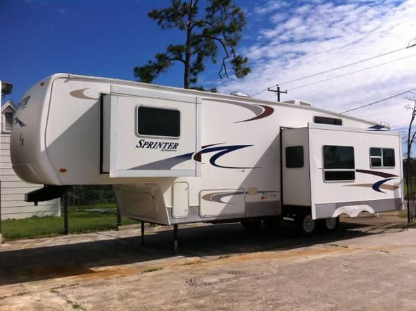 2004 Sprinter 5th Wheel 34ft Triple Slip Out Great Ground Plan For Sale In Houston Texas