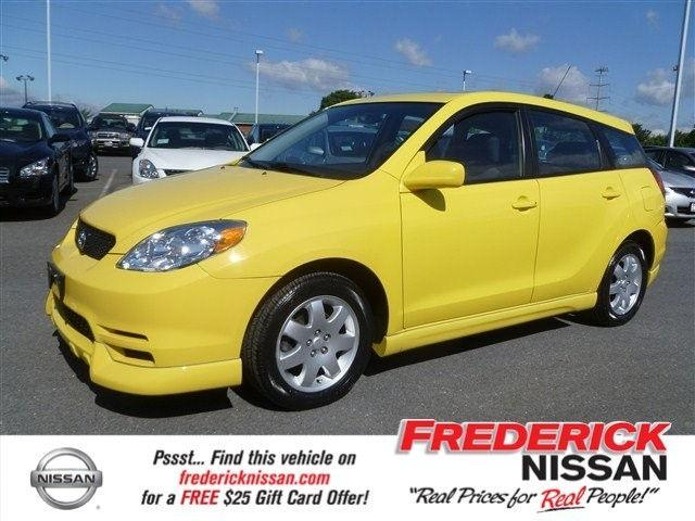 2004 toyota matrix xr for sale in frederick maryland classified. Black Bedroom Furniture Sets. Home Design Ideas