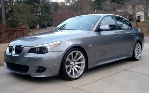2005 Bmw 545i Silver Cinnamon Leather Smg Trans Quot M