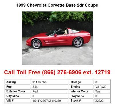 2005 Chevrolet Corvette Base Victory Red 2dr Coupe