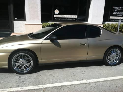 """Chevy Dealer Miami >> 2005 CHEVY MONTE CARLO GOLD WITH CHROME RIMS 20"""" LOADED ..."""