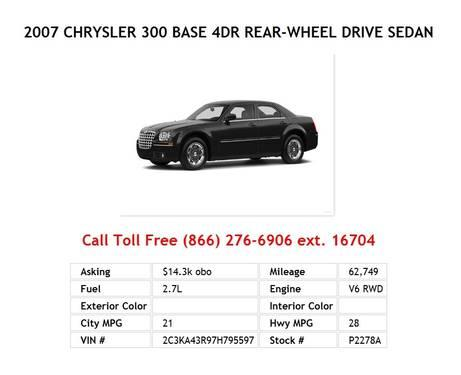 2005 Chrysler 300 Touring 4dr Rear-wheel Drive Sedan