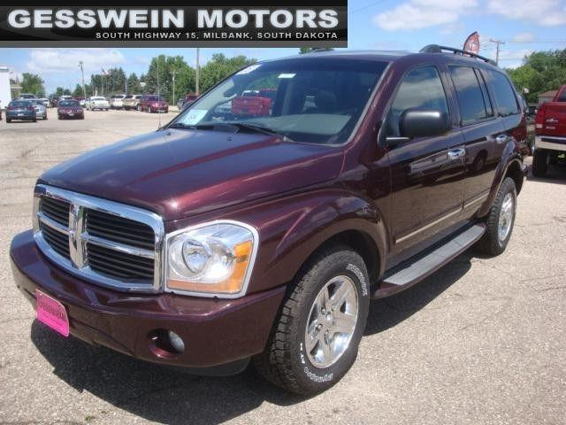 2005 dodge durango limited for sale in milbank south. Black Bedroom Furniture Sets. Home Design Ideas