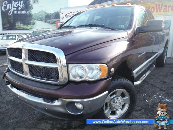 2005 dodge ram 3500 cummins 5 9 diesel 4x4 quad cab long bed one owner for sale in akron ohio. Black Bedroom Furniture Sets. Home Design Ideas