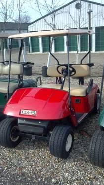 2005 Ezgo Lifted Electric Golf Cart with P D S 2010