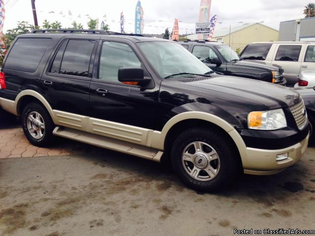 2005 ford expedition eddie bauer edition black tan 8 cyl 4x4 auto for sale in el cajon. Black Bedroom Furniture Sets. Home Design Ideas