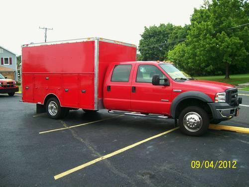 2005 Ford F 450 Crew Cab Enclosed Utility Fire Rescue