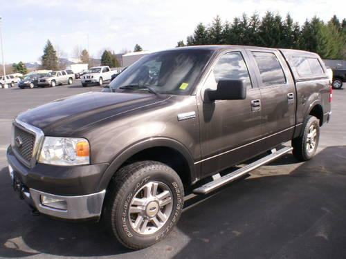 2005 ford f150 supercrew 4x4 lariat htd leather canopy stk 7492 for sale in greenacres. Black Bedroom Furniture Sets. Home Design Ideas