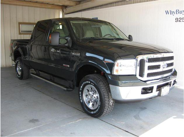 2005 ford f250 super duty crew cab xlt pickup 4d 6 3 4 ft for sale in rocklin california. Black Bedroom Furniture Sets. Home Design Ideas