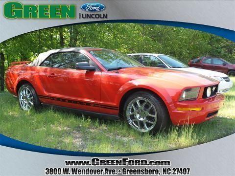 2005 ford mustang 2 door convertible for sale in greensboro north carolina classified. Black Bedroom Furniture Sets. Home Design Ideas