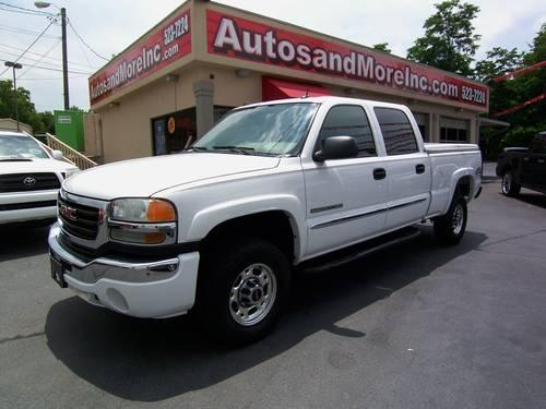 2005 gmc sierra 2500hd slt 4x4 crew cab truck one owner loaded for sale in knoxville. Black Bedroom Furniture Sets. Home Design Ideas