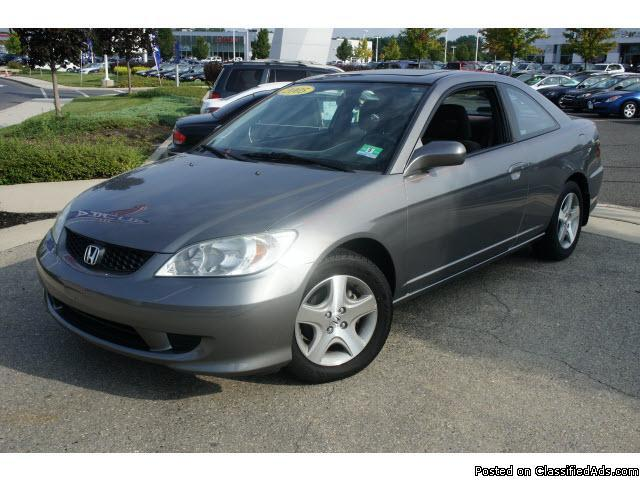 2005 honda civic ex coupe special edition mileage. Black Bedroom Furniture Sets. Home Design Ideas