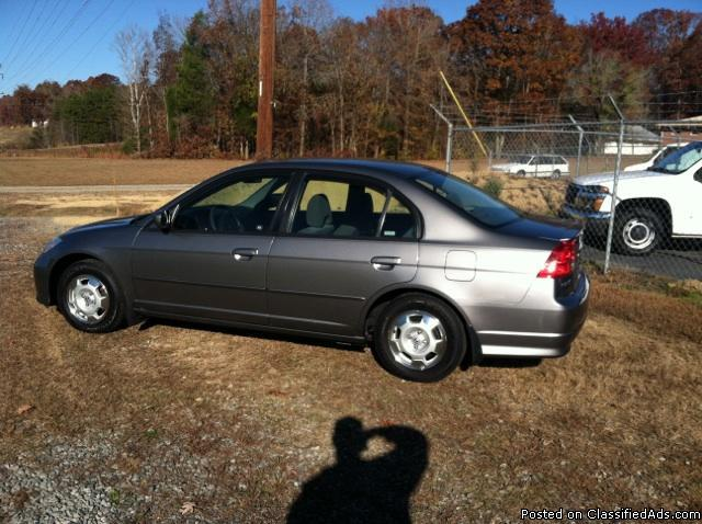 2005 honda civic hybrid for sale in erwin heights north carolina classified. Black Bedroom Furniture Sets. Home Design Ideas