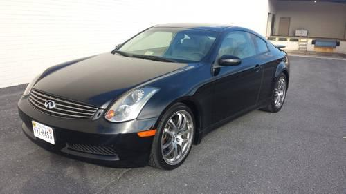 2005 infiniti g35 coupe 6 speed for sale in harrisonburg. Black Bedroom Furniture Sets. Home Design Ideas