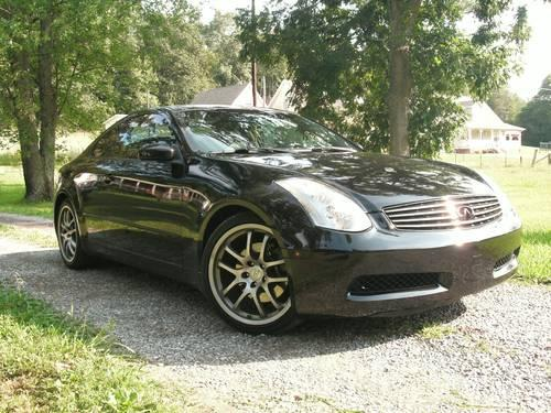 2005 infiniti g35 coupe black auto for sale in cleveland tennessee classified. Black Bedroom Furniture Sets. Home Design Ideas