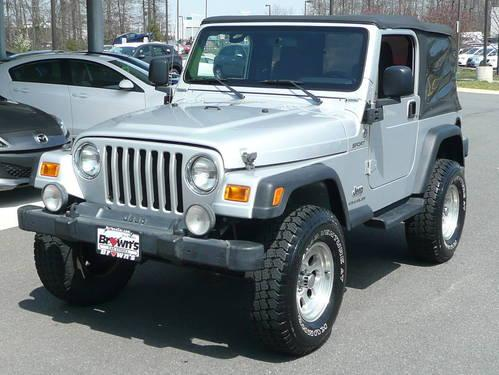 2005 jeep wrangler suv sport 6cyl for sale in chantilly. Black Bedroom Furniture Sets. Home Design Ideas