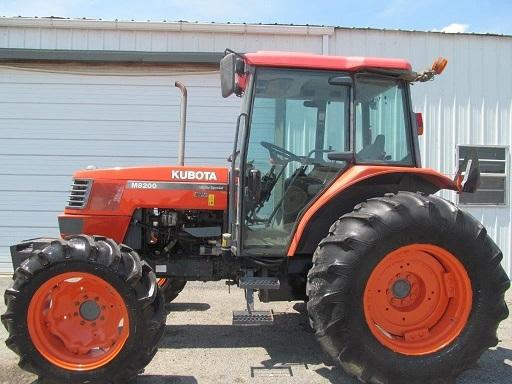 2005 Kubota M8200 Diesel Farm Tractor
