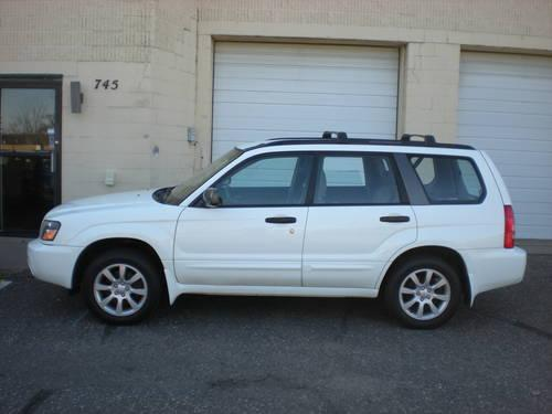 2005 subaru forester xs awd white auto one owner for sale in corcoran minnesota. Black Bedroom Furniture Sets. Home Design Ideas