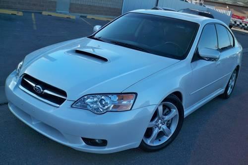 2005 subaru legacy limited gt turbo pearl white sedan. Black Bedroom Furniture Sets. Home Design Ideas