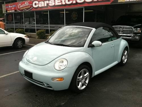2005 volkswagen new beetle convertible convertible gls for sale in knoxville tennessee. Black Bedroom Furniture Sets. Home Design Ideas