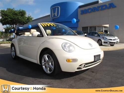 2005 volkswagen new beetle convertible coupe 2dr gls turbo auto for sale in lake forest florida. Black Bedroom Furniture Sets. Home Design Ideas