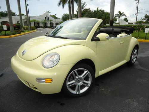 2005 vw beetle convertible 15 976 miles turbocharged 1 8l automatic for sale in pompano beach. Black Bedroom Furniture Sets. Home Design Ideas