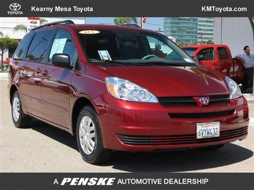 2005 toyota sienna van 5dr ce fwd 7 passenger van for sale in san diego california classified. Black Bedroom Furniture Sets. Home Design Ideas