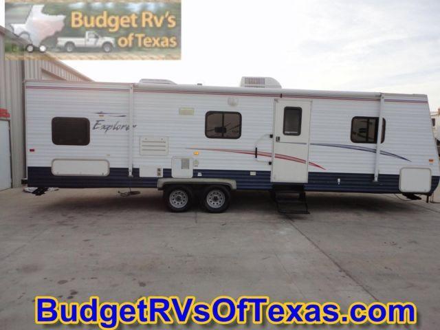 2006 30ft bumper pull explorer bunk house travel trailer for sale in royse city texas. Black Bedroom Furniture Sets. Home Design Ideas