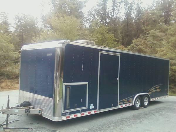Fuzion Tires Price >> 2006 blue pace american car trailer hauler inclosed 28 ft cabinets gen for Sale in York ...