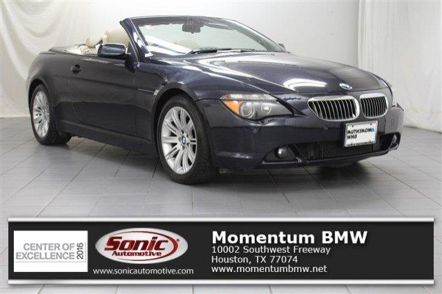 2006 bmw 6 series 650i 650i 2dr convertible 2006 bmw 650 model i convertible in houston tx. Black Bedroom Furniture Sets. Home Design Ideas