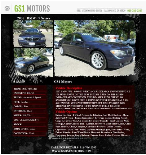 2006 BMW 750Li 7 Series ***Home of the 999 Down***