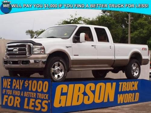 2006 ford f 350 king ranch fx4 crew cab long bed powerstroke diese for sale in sanford florida. Black Bedroom Furniture Sets. Home Design Ideas