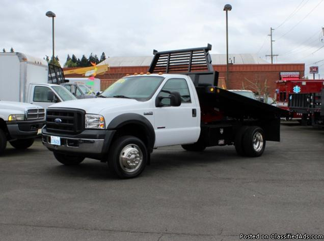 5829 2006 ford f550 4 4 12 ft flatbed dump truck for sale in kent washington classified. Black Bedroom Furniture Sets. Home Design Ideas