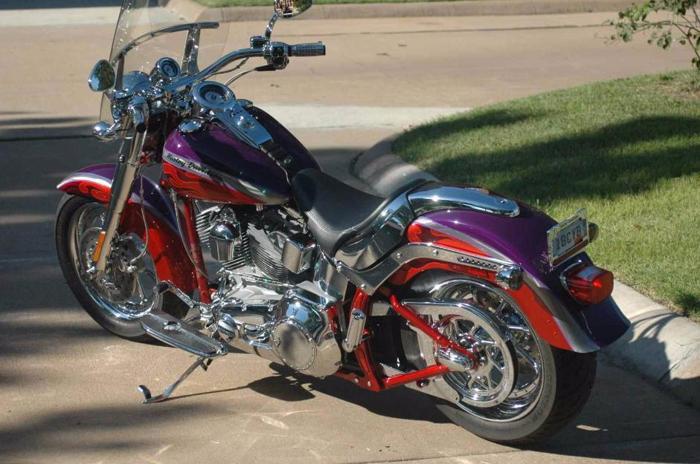 Harley Davidson Softail 2006 Fatboy Cvo Flstfse 2 Canyon Copper Frame Matched