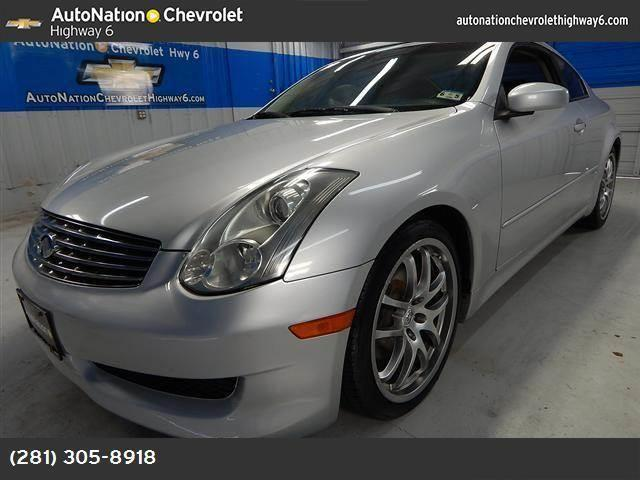 2006 infiniti g35 coupe for sale in houston texas. Black Bedroom Furniture Sets. Home Design Ideas