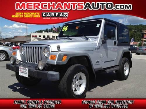 2006 jeep wrangler suv 4x4 sport for sale in manchester new hampshire classified. Black Bedroom Furniture Sets. Home Design Ideas
