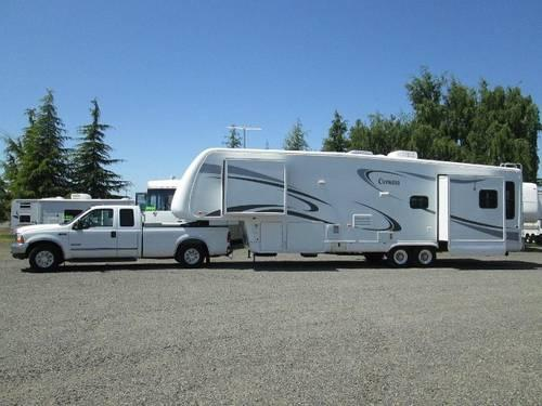 2006 Newmar Cypress 5th Wheel 3 Slides And 2000 F350 7