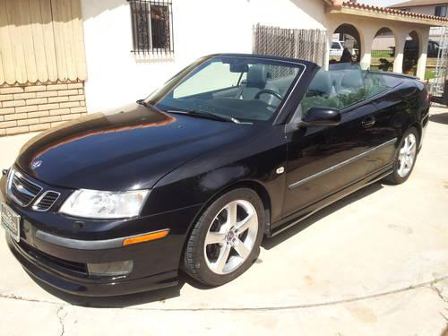 2006 saab 9 3 aero convertible for sale in chula vista. Black Bedroom Furniture Sets. Home Design Ideas