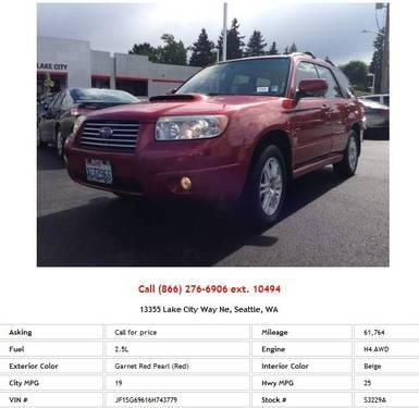 2006 Subaru Forester 2-5Xt Garnet Red Pearl (Red) SUV