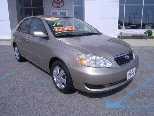 2006 toyota corolla le for sale in muncie indiana. Black Bedroom Furniture Sets. Home Design Ideas