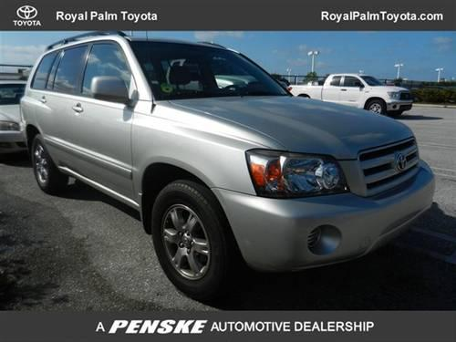 2006 toyota highlander suv 4dr 4 cyl suv for sale in west palm beach florida classified. Black Bedroom Furniture Sets. Home Design Ideas