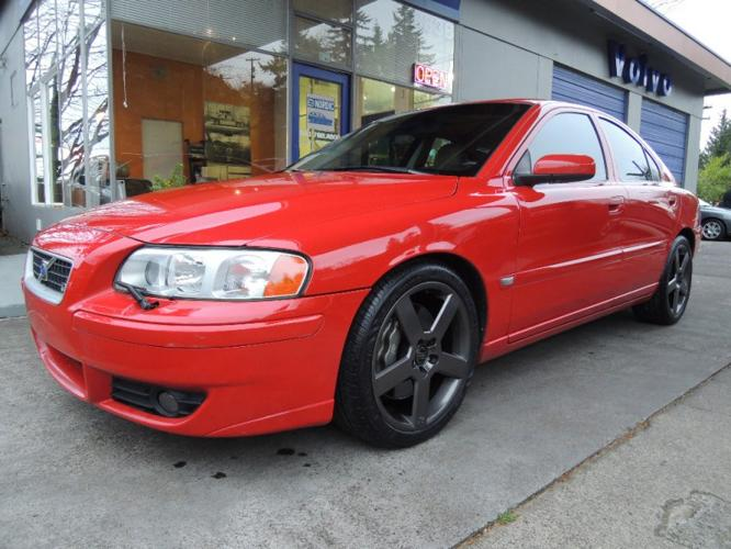 2006 Volvo S60 R Awd Passion Red Gobi Heated Leather Moonoof