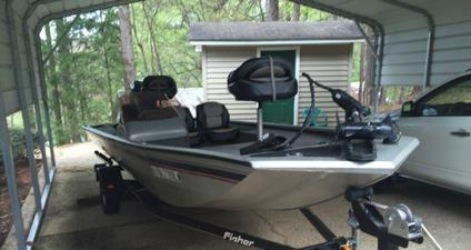 2007 17 39 fisher aluminum fishing boat for sale in for Fishing boats for sale in ohio