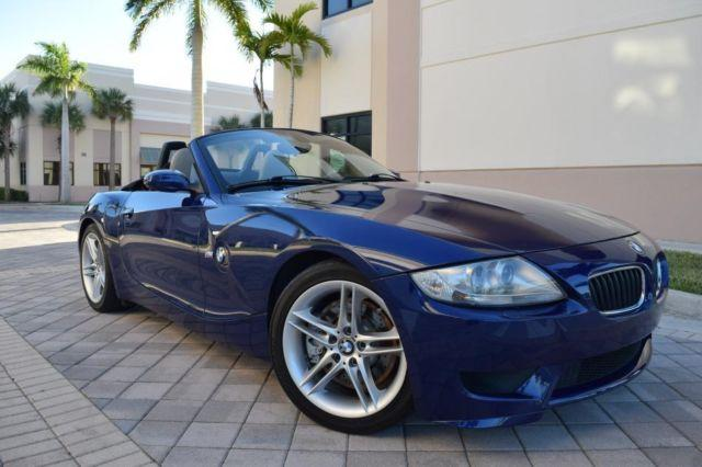 2007 bmw z4 m roadster 330hp m3 engine interlagos blue loaded for sale in west palm beach. Black Bedroom Furniture Sets. Home Design Ideas