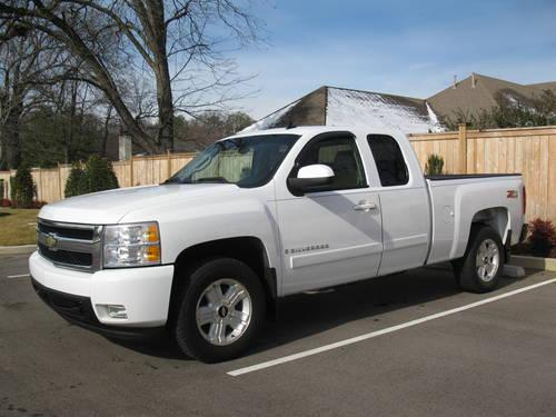 2007 chevy silverado 1500 z71 ltz 4x4 extended cab one owner for sale in memphis tennessee. Black Bedroom Furniture Sets. Home Design Ideas