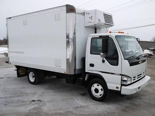 2007 Chevy W3500 14ft Reefer truck,refrigerated,W4500 GMC NPR