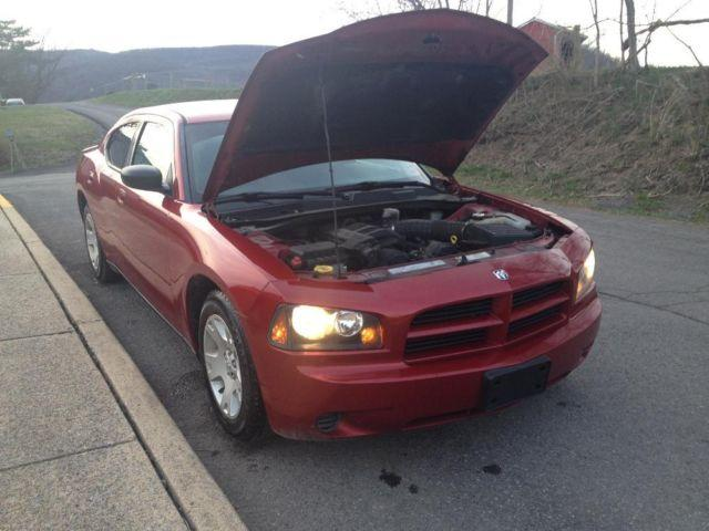 2007 Dodge Charger V6 Red Aftermarket Touchscreen Dvd New Tires For Sale In Keyser West