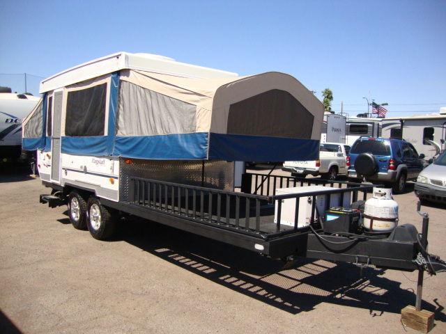 2007 Flagstaff BR28TSC Hybrid Toy Hauler Pop-Up Camper