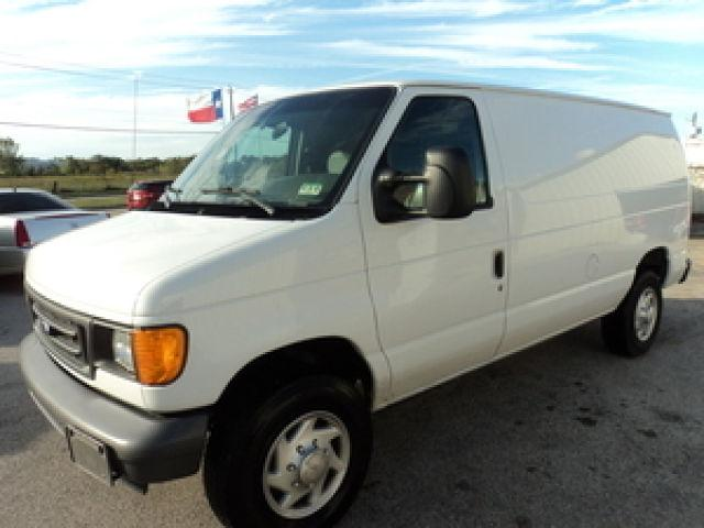 2007 ford e250 cargo van for sale in houston texas. Black Bedroom Furniture Sets. Home Design Ideas