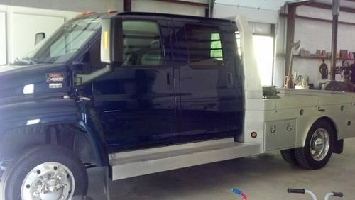 2007 GMC Topkick C4500 Hauler- Crew Cab-Dark Blue 14K Mi for Sale in ...